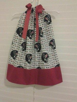 Houston Texans Pillowcase Dress Matching Bow