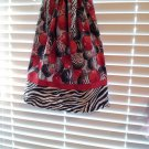 Christmas Ornaments Zebra Print Pillowcase Dress