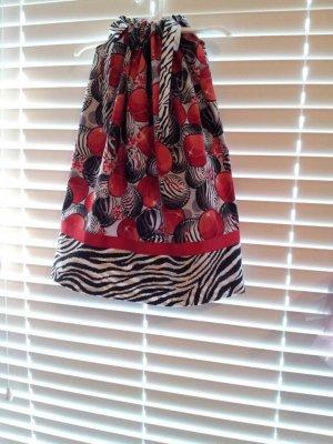 Christmas Ornaments Zebra Print Pillowcase Dress