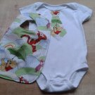 Winnie the Pooh and Tigger Tie Onesie and Bib Set