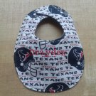 Monogrammed Houston Texans Bib