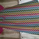Spring Chevron Peasant Dress