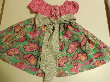 Chipper Peasant Dress, Size 2T