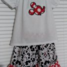 Mickey Mouse Ruffle Short Set, Size 2/3