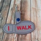 I Walk Backpack Tag