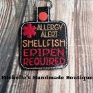 Shellfish Allergy Key Fob