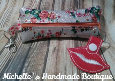 Floral Vinyl Lipstick Lipgloss Pouch