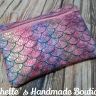 Pink Ombre Scales Vinyl Pouch