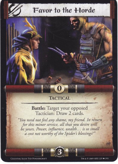 Favor tot he Horde (L5R) - Near Mint