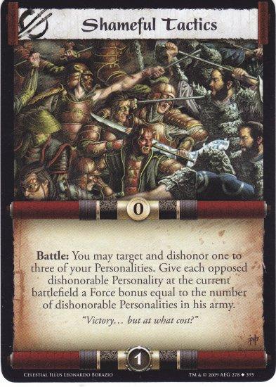 Shameful Tactics (L5R) - Near Mint
