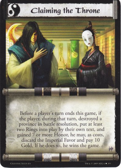 Claiming the Throne (L5R) - Near Mint