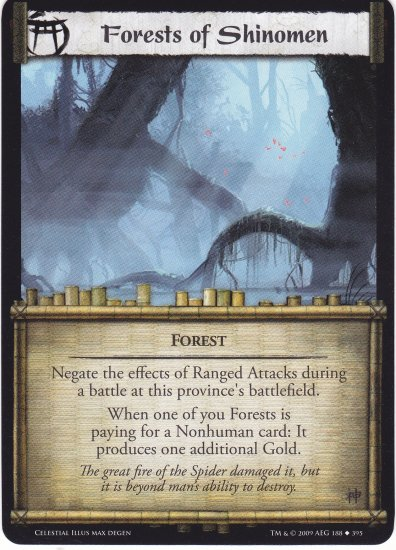 Forests of Shinomen (L5R) - Near Mint
