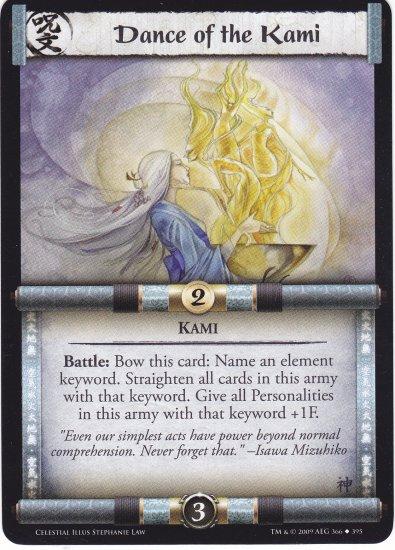 Dance of the Kami (L5R) - Near Mint