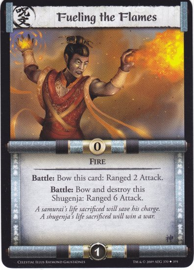 Fueling the Flames (L5R) - Near Mint