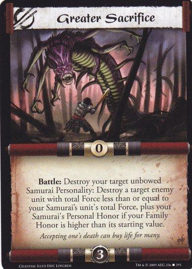 Greater Sacrifice x3 (L5R) - Near Mint