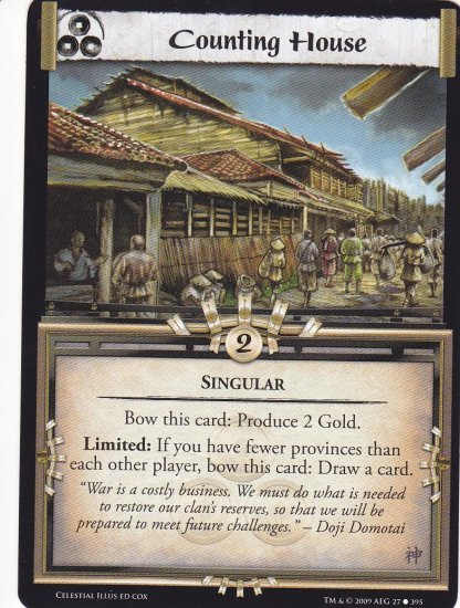 Counting House x3 (L5R) - Near Mint