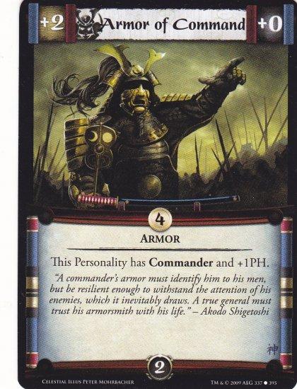 Armor of Command x3 (L5R) - Near Mint