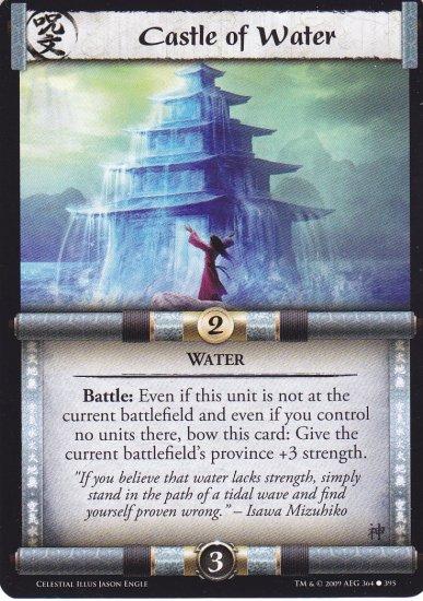 Castle of Water x3 (L5R) - Near Mint