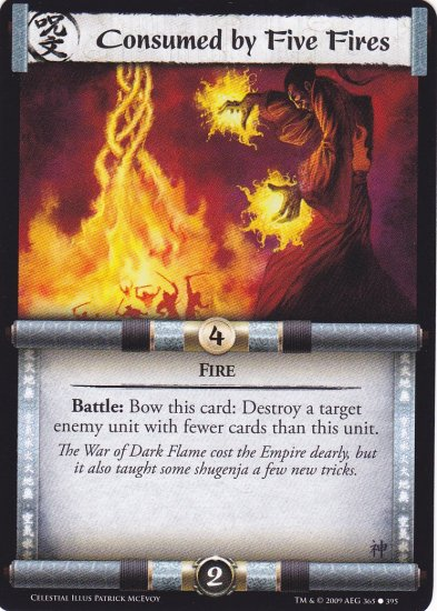 Consumed by Five Fires x3 (L5R) - Near Mint
