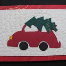 (CT 05) Christmas Tree on Car Handmade Greeting Card
