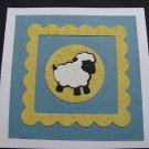 (BBY 05) Lamb Handmade New Baby Greeting Card