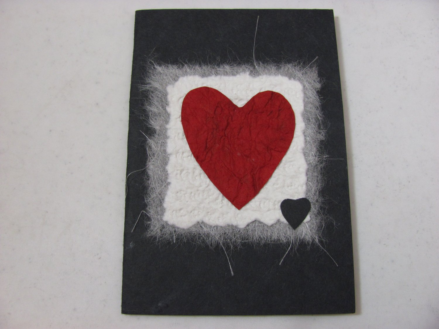 (HRT 18) Large & Small Hearts Handmade Greeting Card