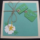 "(PKG 01) ""For You""  Hibiscus Handmade Greeting Card"