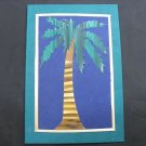 (TRE 01) Wheat Straw Palm Tree Handmade Greeting Card