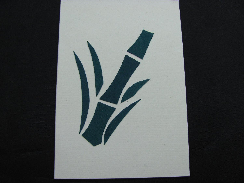 (PLT 07) Bamboo Handmade Greeting Card