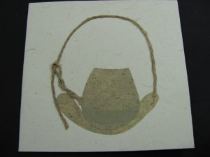 (CH 01) Cowboy Hat & Lasso Handmade Greeting Card