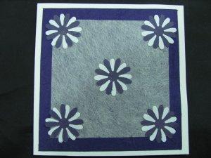 (FLR 39) Purple and White Daisies Handmade Greeting Card