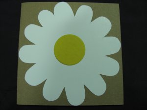 (FLR 01) White Daisy Handmade Greeting Card