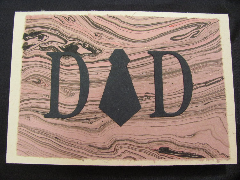 "(DAD 03) ""Dad"", Necktie Father's Day Handmade Greeting Card"