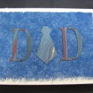 "(DAD 01) ""Dad"", Necktie Father's Day Handmade Greeting Card"