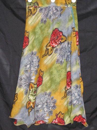 P2616 Preteen/Girls Reversible Sari Wrap Skirt