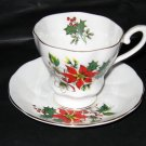 Royal Grafton Christmas Holly Cup and Saucer Set