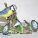 1981 LE Franklin Porcelain English Blue Tit Bird Figurine