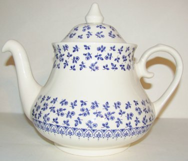 "Vintage Staffordshire ""English Blue Ironstone"" Tea Pot"