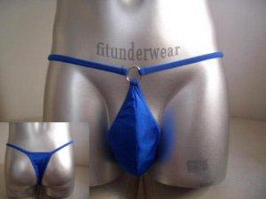Men's Lingerie Brief Stretch Thong Underwear Blue #TH38