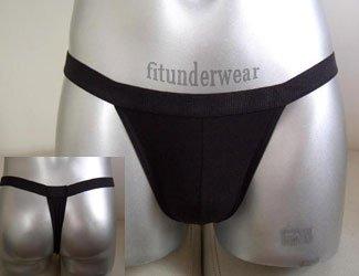 Men's Sexy Brief Black Thong Underwear S-L #TH33