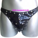 New Men's Sexy Thong Underwear PVC Leatherette Lingerie #TH141