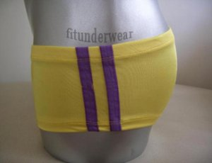 New Men's Sexy Lingerie Stretch Boxer Underwear Yellow Lowcut #BX36