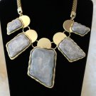 NL11 New Design Fashion Style Party or Wedding Gold Necklaces & Stone Pendants