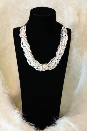 NL07 New Design Fashion Style Party or Wedding Silver Necklaces
