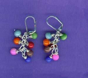 Multi Wrapped Ball Earrings
