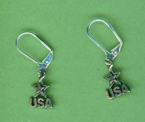 'USA' Earrings