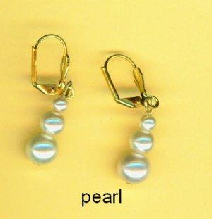 Stacked Pearl Earrings