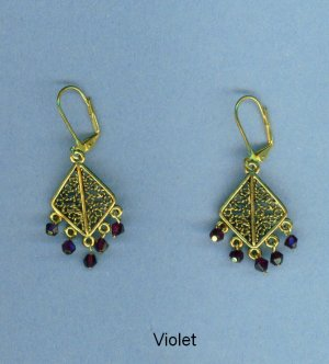 Triangular Gypsy Chandelier Earrings