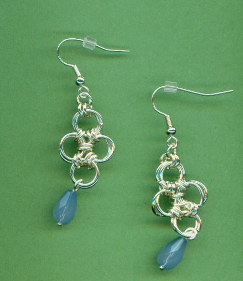 Japanese Lattice Chain Maille Earrings