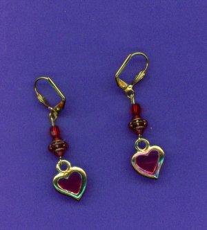 Royal Heart Acrylic Earrings